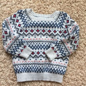3t boys fair isle sweater.